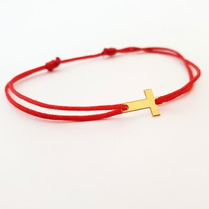 Bratara Cruciulita - Aur galben 14K - snur reglabil