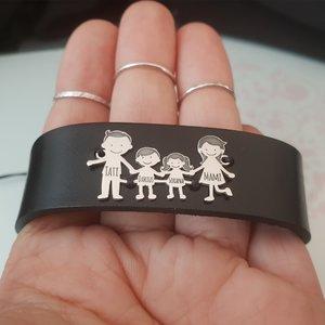 Bratara Familia Mea, pentru barbat - 4 membri - Argint 925