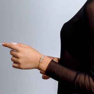 Bratara - Golden Sand Beads - placata cu aur 18K