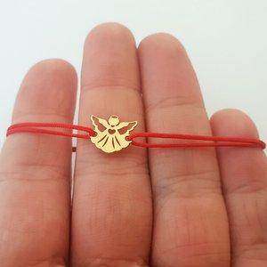 Bratara - Ingerasul meu - Aur galben 14K - snur reglabil
