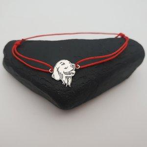 Bratara Labrador - Argint 925, snur rosu