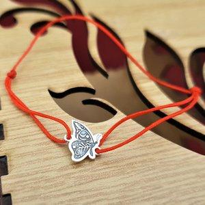 Bratara Fluture - Argint 925, snur rosu