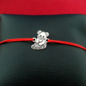 Bratara Ursulet - Argint 925, snur reglabil