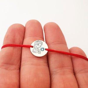 Bratara personaj - Elsa - Argint 925 - cristal Swarovski - snur reglabil
