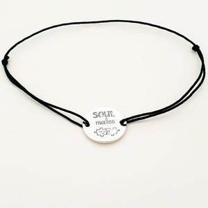 Bratara Soulmates - Argint 925, snur negru