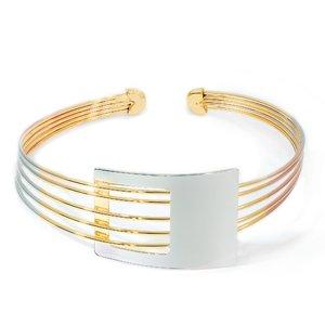Bratara - Vibrant Cuff - placata cu aur 18K
