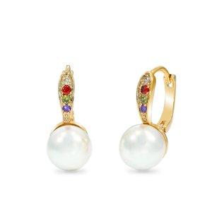Cercei - Captured Pearl - placati cu aur 18K
