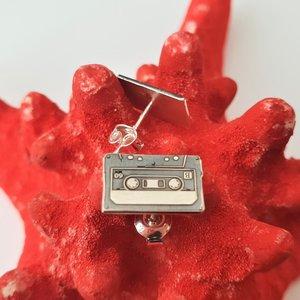 Cercei Caseta audio - Argint 925