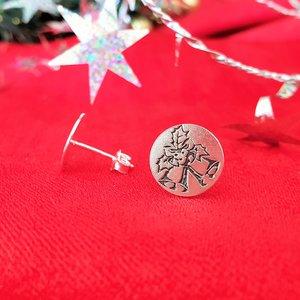Cercei Craciun - Clinchet de clopotei - Argint 925, surub