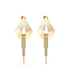 Cercei - Electric Mood - placati cu aur 18K