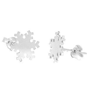 Cercei Craciun - Fulg de nea - Argint 925, surub