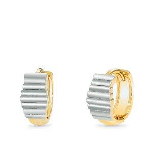 Cercei - Gold&Silver Vibration - placat cu aur 18K