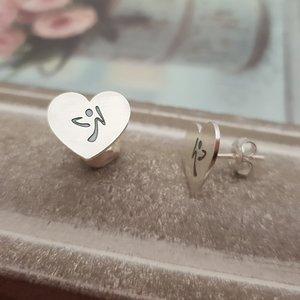 Cercei Inima - Zumba - Argint 925