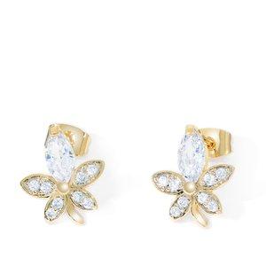 Cercei - Jasmine Flower - placati cu aur 18K