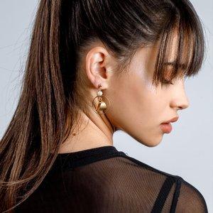 Cercei - Pearl Harmony - placati cu aur 18K