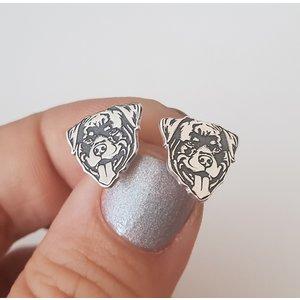 Cercei Rottweiler - Argint 925, surub