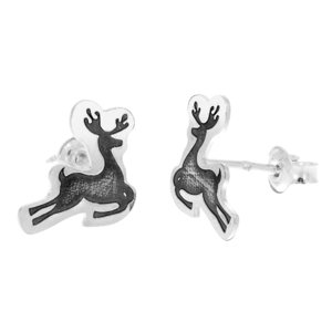 Cercei Craciun - Rudolf - Argint 925, surub