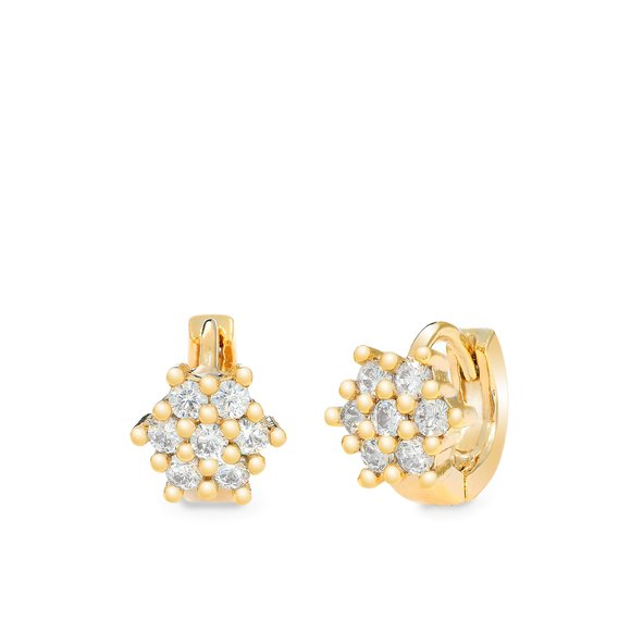 Cercei - Twinkle Star - placati cu aur 18K