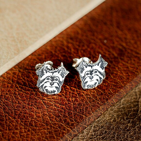 Cercei Yorkshire - Argint 925, surub