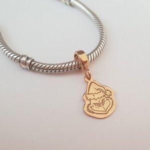 Charm personalizat Craciun - Grinch - Argint 925 placat cu Aur roz 14K