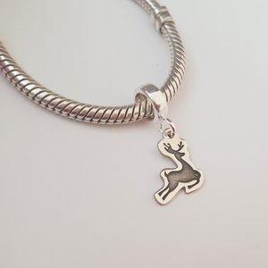 Charm personalizat Craciun - Renul Rudolf - Argint 925