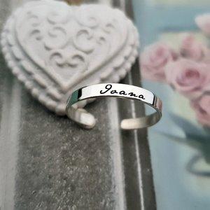 Inel personalizat cu nume - Argint 925