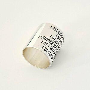 Inel personalizat - Puterea cuvintelor - Latime 20 mm - Argint 925