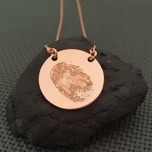 Lantisor cu amprenta - Argint 925 placat cu Aur roz 14k