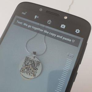 Lantisor cu pandantiv banut - personalizat cu QR code - Argint 925
