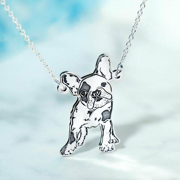 Lantisor cu pandantiv BULLDOG - Argint 925