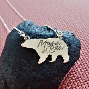 Lantisor cu pandantiv - Mama bear - Argint 925