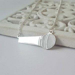 Lantisor cu pandantiv Microfon - Argint 925