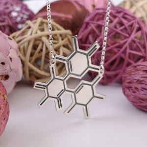 Lantisor cu pandantiv Molecule ADN - Argint 925