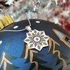 Lantisor cu pandantiv personalizat de Craciun - Steluta de zapada - model decupat -Argint 925 - cristal Swarovski