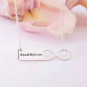 Lantisor personalizat - Te iubesc la infinit - Argint 925