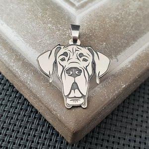 Pandantiv cap Dog German - Argint 925