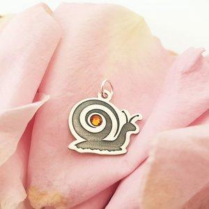 Pandantiv Melc - Argint 925 - cristal Swarovski