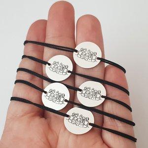 Set Cadou 5 bratari surori / prietene - banut din Argint 925, snur diverse culori