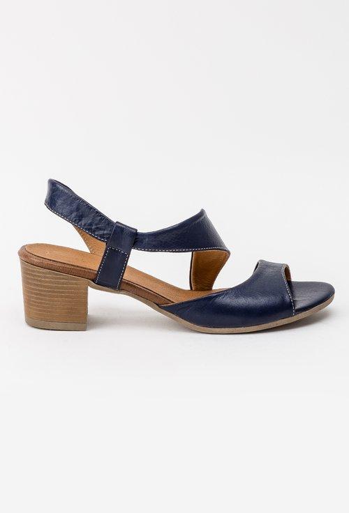 Sandale bleumarin din piele naturala Corelia