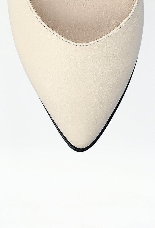 Balerini cu bareta nuanta alb fildes