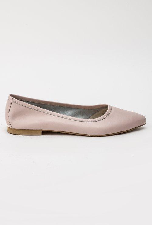 Balerini roz-pudra din piele naturala Alia