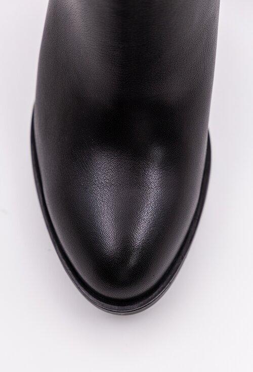 Botine negre din piele naturala box