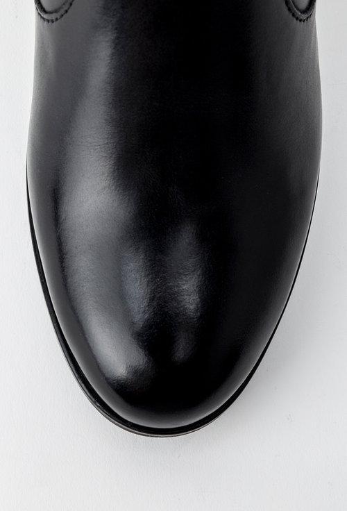 Botine negre din piele naturala Carol