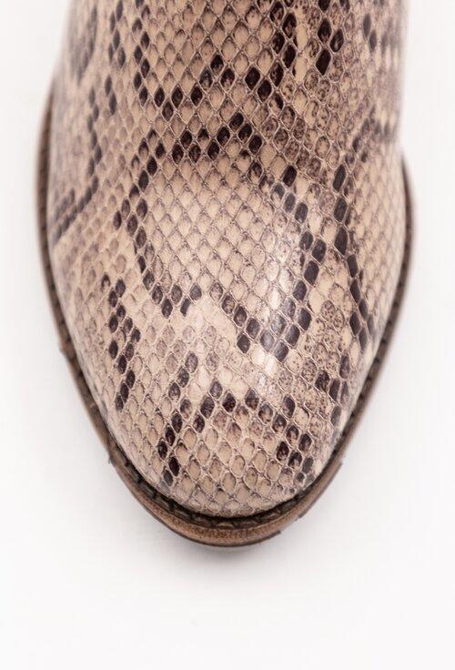 Cizme din piele naturala cu snake print