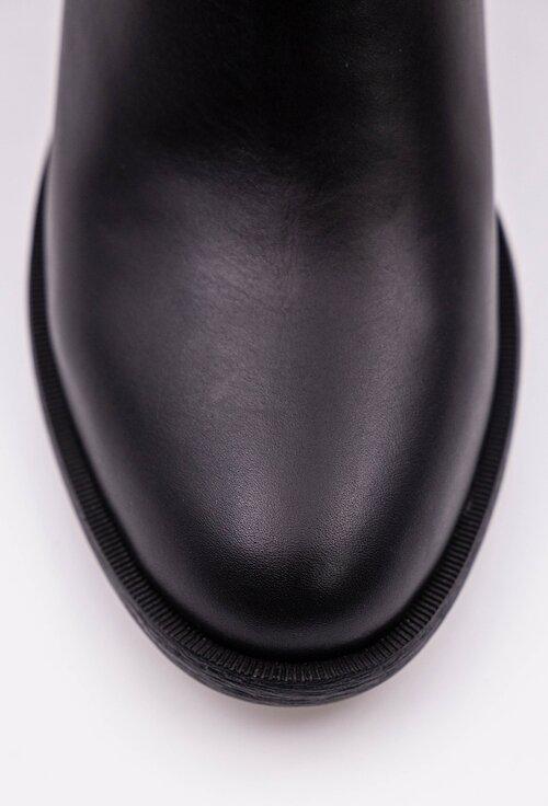 Cizme negre din piele box