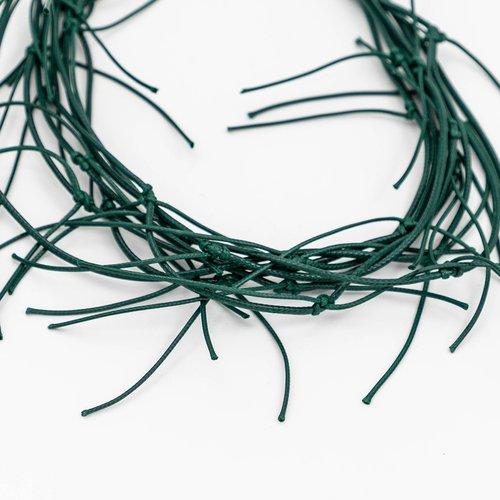 Colier din snur verde