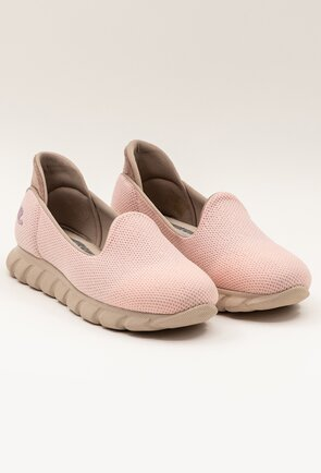 Espadrile roz pal din material textil