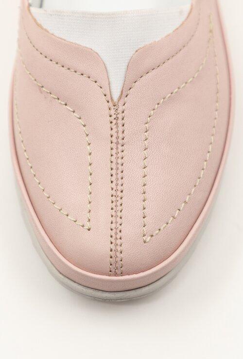 Espadrile roz pal din piele