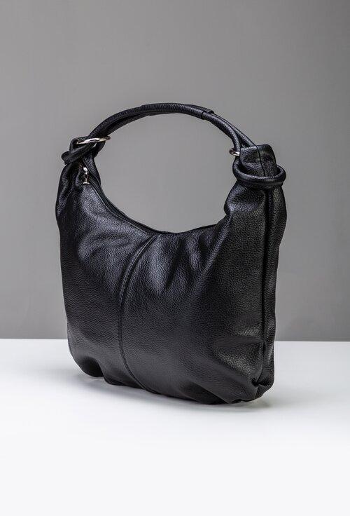 Geanta casual nuanta negru din piele naturala