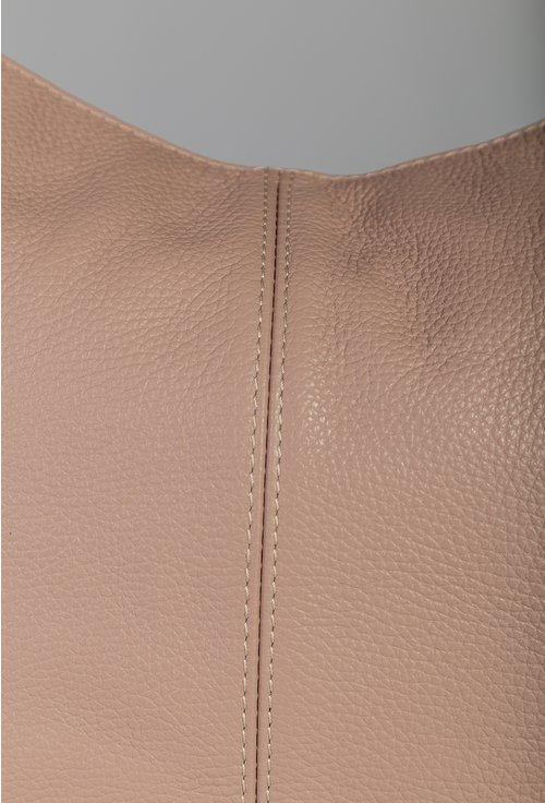 Geanta casual nuanta roz pudra din piele naturala